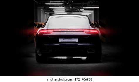 Ukraine, Kyiv - May 5 : Porsche Panamera e-hybrid details