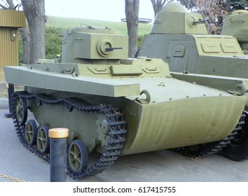 Ukraine, Kyiv, World War II Museum, Soviet light tank