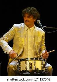 UKRAINE, LUGASK - November 9, 2013: As part of a European tour Goran Bregovic performed in Luhansk.