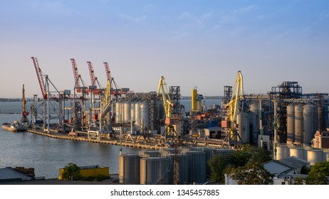 Ukraine, Odessa 2018. International sea port with cargo containers