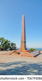 UKRAINE. ODESSA. JUNE, 2017: Monument to the Unknown Sailor.