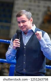 "Ukrainian Boxing Championship among men, 13 - 18 November 2018, Palace of Sports ""Lokomotiv"", Kharkiv, Ukraine. First vice president of Boxing Federation of Ukraine SHENTSEV DMYTRO OLEKSIYOVYCH"