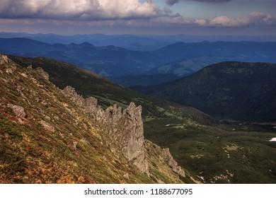 Ukrainian Karpaty mountains rock