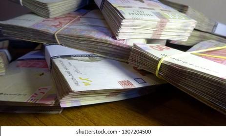 Ukrainian money (hryvnia, hryvnia, grivna), Ukrainian currency -100 hryvnia bank notes