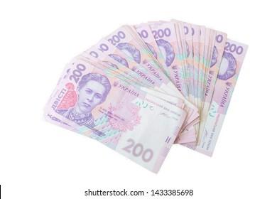 Ukrainian money hryvnia. The national currency. Corruption in Ukraine.