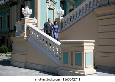 Ukrainian President Petro Poroshenko and First Lady Marina Poroshenko during the celebration of the Independence Day. Kyiv, Ukraine. 24-08-2018
