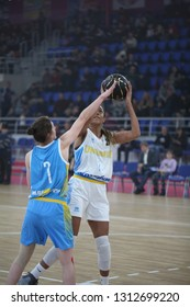 """Ukrainian women's National streetball team play game at UKRAINE SUPERLEAGUE ALL STAR GAME, Match of the Stars - 2019, 26/01/2019, Palace of Sports """"Youth"""", Zaporozhye, Ukraine"""