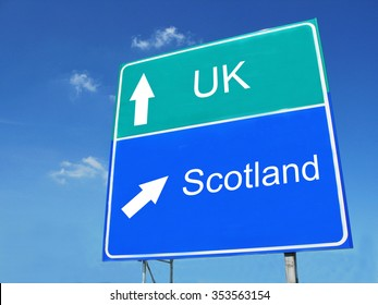 UK-Scotland road sign