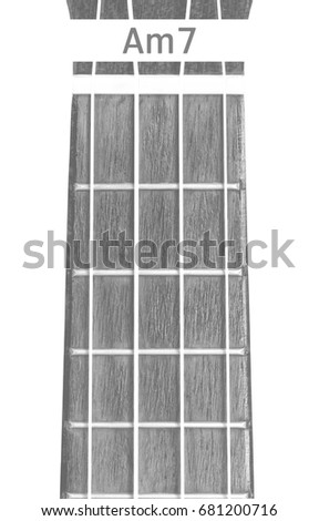 Ukulele Chord Am 7 On White Background Stock Photo Edit Now