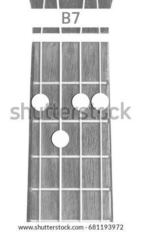 Ukulele Chord B 7 On White Background Stock Photo Edit Now