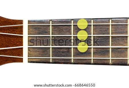 Ukulele Chord Cm C Minor On Stock Photo Edit Now 668646550