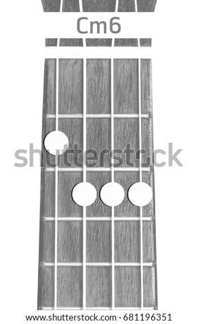 Ukulele Chord Cm 6 On White Background Stock Photo Edit Now