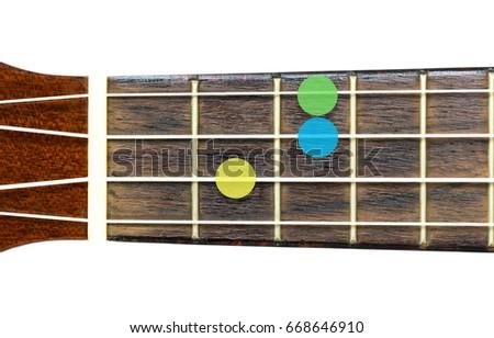 Ukulele Chord Csus 2 On White Background Stock Photo (Edit Now ...
