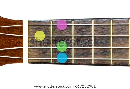 Ukulele Chord D Minor 6 Dm Stock Photo Edit Now 669252901