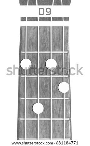 Ukulele Chord D 9 On White Background Stock Photo Edit Now