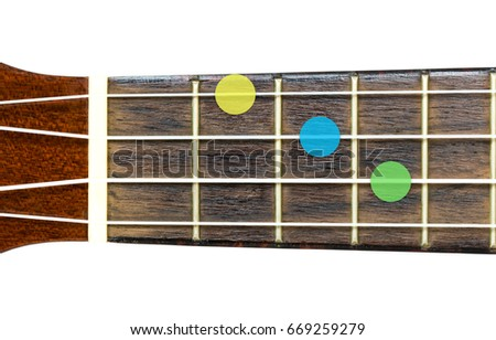 Ukulele Chord E Minor Em On Stock Photo Edit Now 669259279
