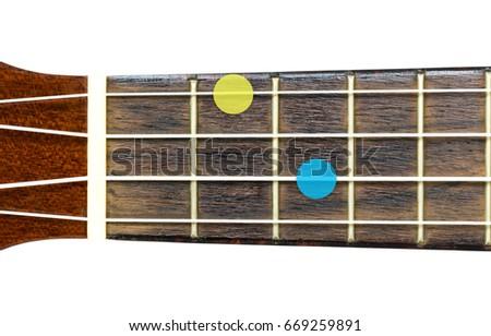 Ukulele Chord E Minor Major 7 Stock Photo Edit Now 669259891