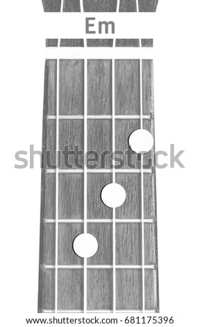 Ukulele Chord Em On White Background Stock Photo Edit Now
