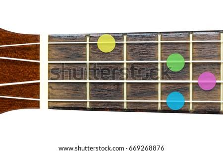Ukulele Chord F Diminished F Dim Stock Photo Edit Now 669268876