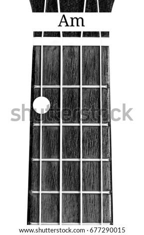 Ukulele Chord Minor On White Background Stock Photo Edit Now