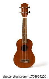 ukulele isolated on white background with the clipping path