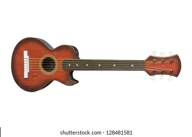 ukulele on isolated background.