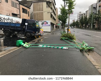 Ukyo-ku, kyoto-shi after disaster of Typhoon Jebi (Typhoon No. 21) September 4, 2018