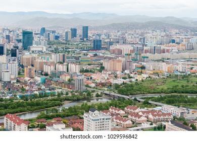 ULAANBAATAR, MONGOLIA - Jul 06, 2017: Ulaanbaatar City. Ulaanbaatar is the capital and largest city of Mongolia.