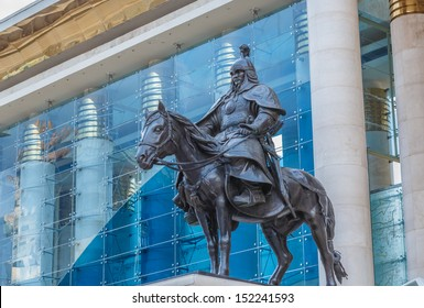 ULAANBAATAR, MONGOLIA - JULY 4: Statue of Bo'orchu, Ulaanbaatar on July 4, 13.  He was one of the first and most loyal of Genghis Khan's friends and allies