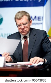 ULAN-UDE, RUSSIA - JULY 9: The minister of finance (now former) of Russia Aleksei Kudrin at the Baikal economical forum July 9, 2009 in Ulan-Ude, Buryatia, Russia.
