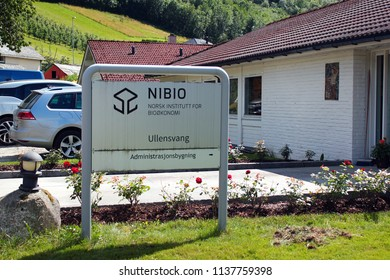Ullensvang, Norway - June 22, 2018: Norwegian Institute of Bioeconomy Research, specializing in sustainable resource management, innovation in food, forestry and other biobased industries.