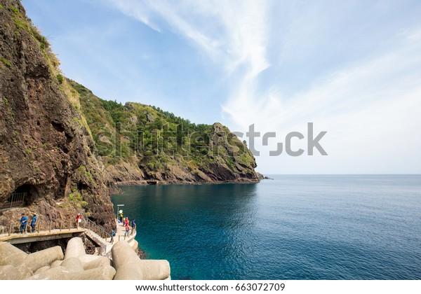 Ulleungdo Island, South Korea - September, 2016: Landscape of Ulleungdo Island.