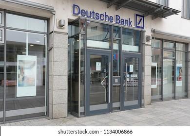 ULM,GERMANY-JUNE 24,2018: Deutsche Bank in Ulm.