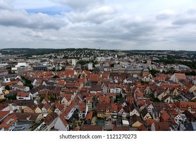 ULM,GERMANY-JUNE 24,2018:view on the german city ULM.Ulm is a city in the south German state of Baden-Württemberg.