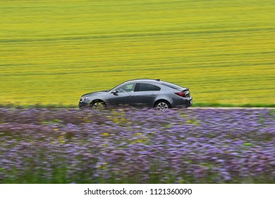 ULM,GERMANY-JUNE 26,2018:car on the route.
