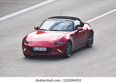 ULM,GERMANY-OCTOBER 06,2018:MAZDA car  on the route.