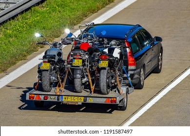 ULM,GERMANY-SEPTEMBER 26,2018: VOLVO  on the route A7.
