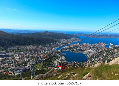 Ulriken Aerial tramway in Bergen, Norway