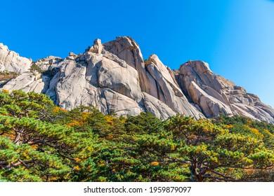 Ulsan Bawi peak at Seoraksan national park in the Republic of Korea