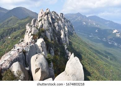 Ulsanbawi Rock Peak, Center-Left Frame, Seoraksan, Korea
