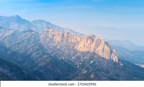 Ulsanbawi Rock in the Seoraksan national park, South Korea.