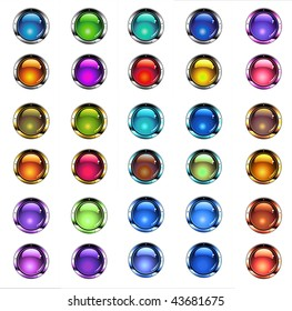 Ultra Glossy Buttons for Website Graphics