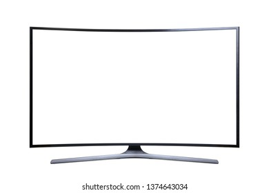 Ultra HD Television with a Blank Screen, Cut Out