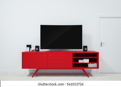 Captivating Ultra Hd Tv Curved On Red TV Stands And Decor Ideas For Valentines Day On  White