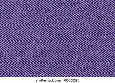 Ultra violet color fabric sample Herringbone,zigzag pattern texture backdrop.Ultra Violet,purple Fabric strip line,Herringbone pattern design,upholstery for decoration interior design background.