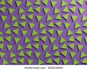 Ultra violet and greenery pantone color triangular textured background