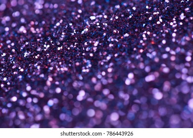 ultra violet sparkle background. bright and festive. St. Valentine's concept of greeting. Macro photo.