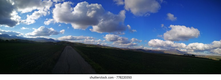 ultra wide panorama basilicata