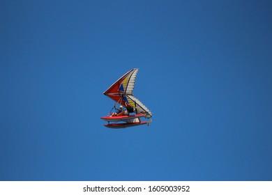 ultralight flying over lake NH