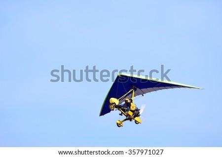Ultralight Trike Flying Pilot Passenger Stock Photo (Edit Now